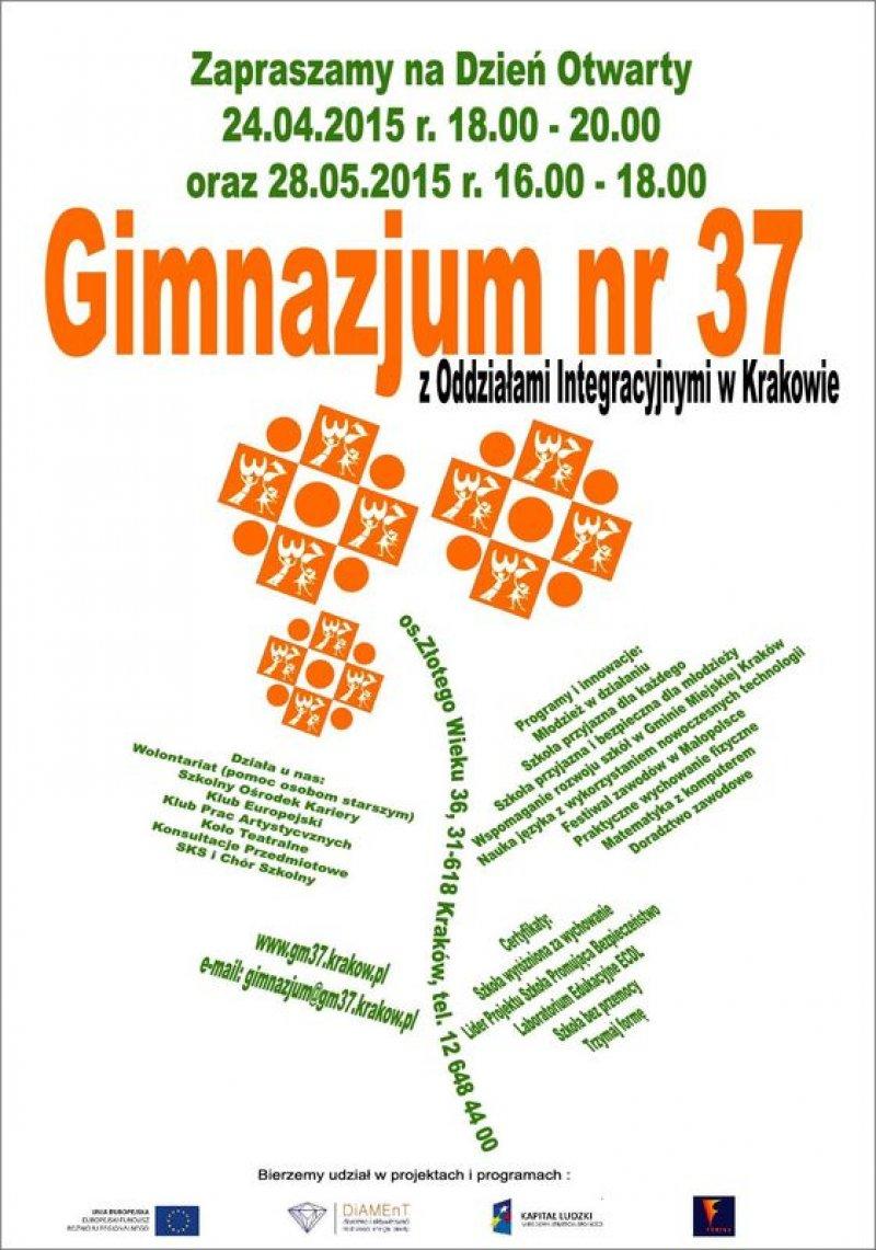 Zaproszenie Na Dni Otwarte Naszego Gimnazjum Szkoła Podstawowa Nr 77