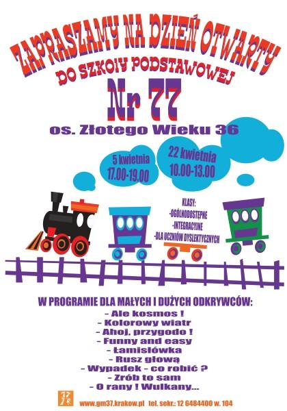 Zaproszenie Na Dni Otwarte Szkoły Szkoła Podstawowa Nr 77